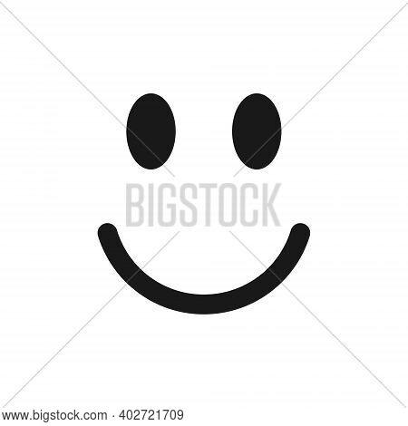 Smile Face Emoji Icon Vector. Smiling Symbol Sign. Simple Flat Shape Happy Emotion Logo. Isolated On