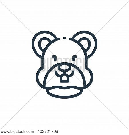 hamster icon isolated on white background. hamster icon thin line outline linear hamster symbol for