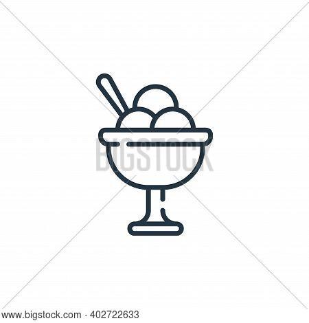 ice cream icon isolated on white background. ice cream icon thin line outline linear ice cream symbo