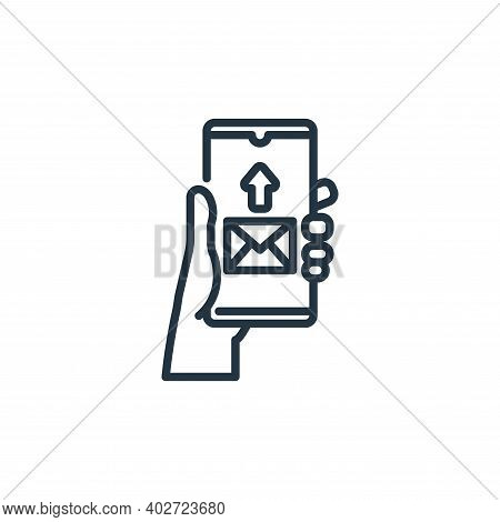 send mail icon isolated on white background. send mail icon thin line outline linear send mail symbo
