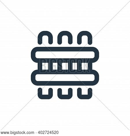 fence icon isolated on white background. fence icon thin line outline linear fence symbol for logo,