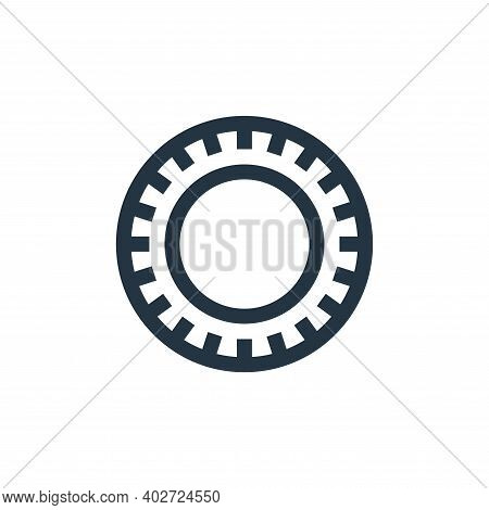 plate icon isolated on white background. plate icon thin line outline linear plate symbol for logo,