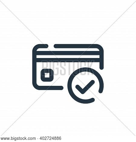 verified icon isolated on white background. verified icon thin line outline linear verified symbol f