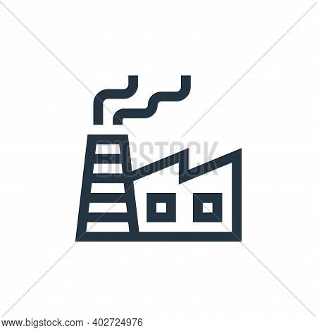 factory icon isolated on white background. factory icon thin line outline linear factory symbol for
