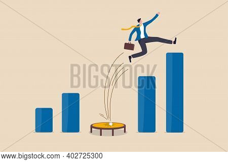Business Challenge, Revenue Rebound And Recover From Economic Crisis Or Earning And Profit Growth Ju