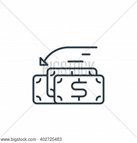 income icon isolated on white background. income icon thin line outline linear income symbol for log