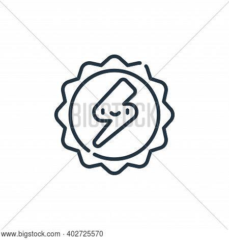 solar energy icon isolated on white background. solar energy icon thin line outline linear solar ene