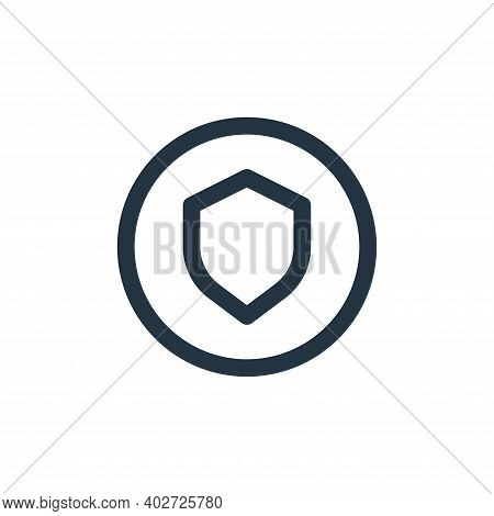 shield icon isolated on white background. shield icon thin line outline linear shield symbol for log