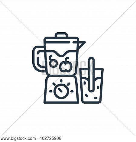 blender icon isolated on white background. blender icon thin line outline linear blender symbol for