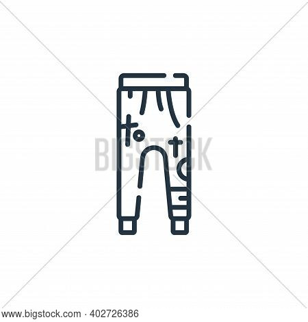 training pants icon isolated on white background. training pants icon thin line outline linear train