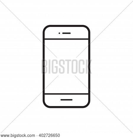 Mobile Phone, Cell Phone Outline Icon Vector Flat Style Symbol For Graphic Design, Web Site, Social