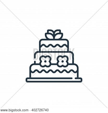 wedding cake icon isolated on white background. wedding cake icon thin line outline linear wedding c