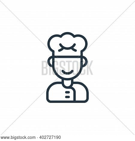 chef icon isolated on white background. chef icon thin line outline linear chef symbol for logo, web