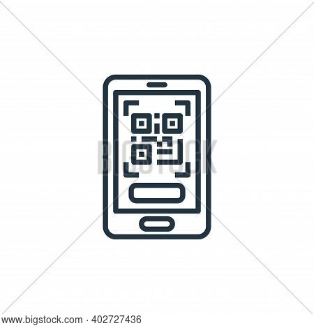 qr code icon isolated on white background. qr code icon thin line outline linear qr code symbol for