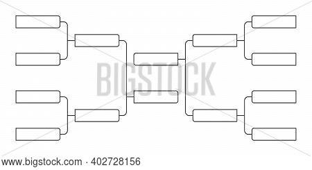 8 Team Tournament Bracket Championship Template Flat Style Design Vector Illustration Isolated On Wh
