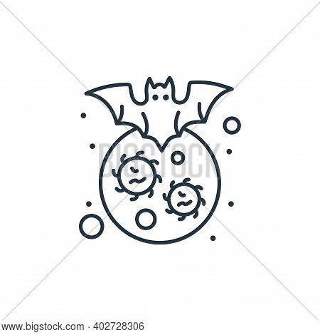 bat icon isolated on white background. bat icon thin line outline linear bat symbol for logo, web, a