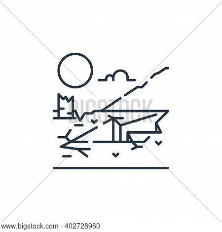 earthquake icon isolated on white background. earthquake icon thin line outline linear earthquake sy