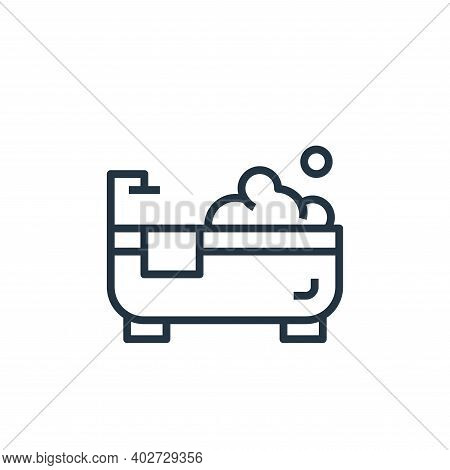 bathtub icon isolated on white background. bathtub icon thin line outline linear bathtub symbol for