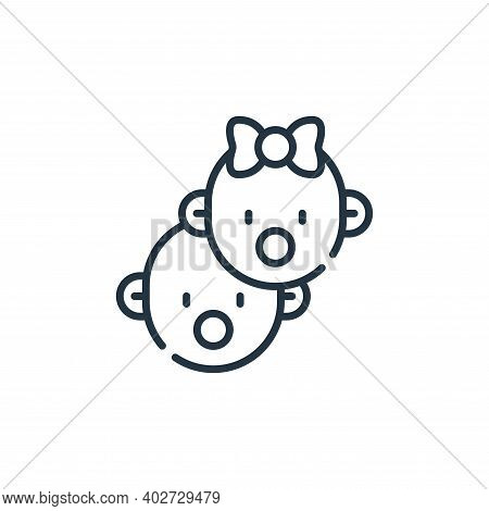 babies icon isolated on white background. babies icon thin line outline linear babies symbol for log