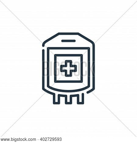 blood bag icon isolated on white background. blood bag icon thin line outline linear blood bag symbo