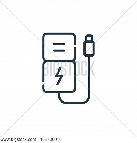 power bank icon isolated on white background. power bank icon thin line outline linear power bank sy
