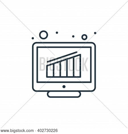 bar chart icon isolated on white background. bar chart icon thin line outline linear bar chart symbo