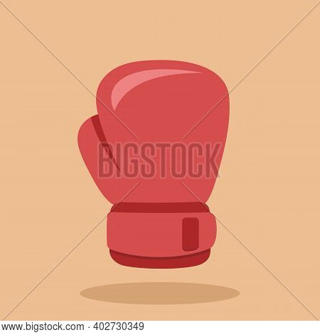 Boxing Glove Icon Isolated On Colored Background. Vector Illustration