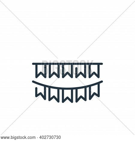 flags icon isolated on white background. flags icon thin line outline linear flags symbol for logo,