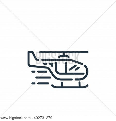 emergency chopper icon isolated on white background. emergency chopper icon thin line outline linear