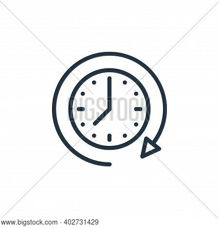 clock icon isolated on white background. clock icon thin line outline linear clock symbol for logo,