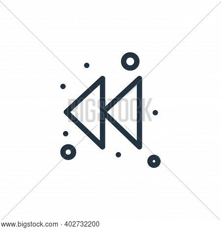 rewind icon isolated on white background. rewind icon thin line outline linear rewind symbol for log