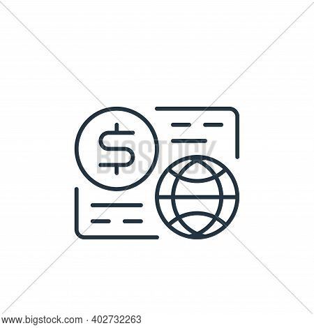 money flow icon isolated on white background. money flow icon thin line outline linear money flow sy