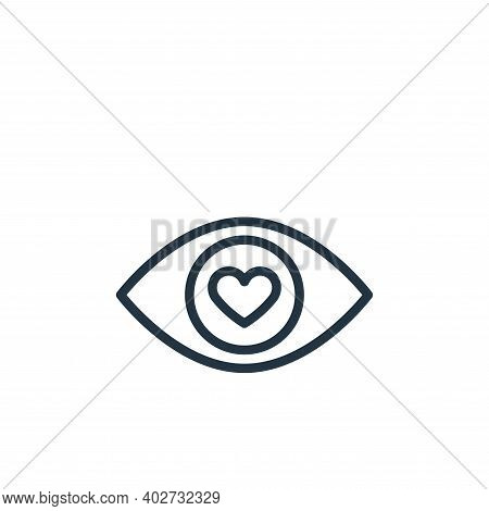 in love icon isolated on white background. in love icon thin line outline linear in love symbol for
