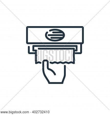 tissue paper icon isolated on white background. tissue paper icon thin line outline linear tissue pa