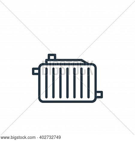 radiator icon isolated on white background. radiator icon thin line outline linear radiator symbol f