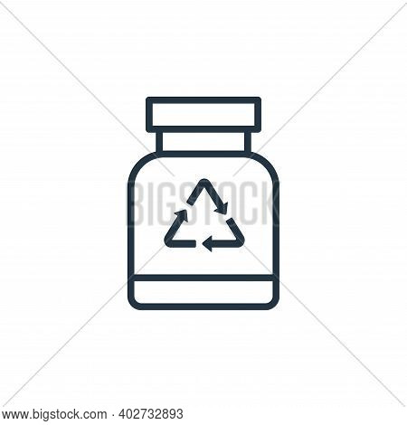 bottle icon isolated on white background. bottle icon thin line outline linear bottle symbol for log