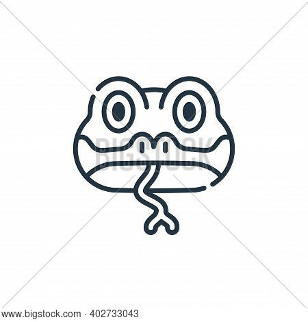 snake icon isolated on white background. snake icon thin line outline linear snake symbol for logo,