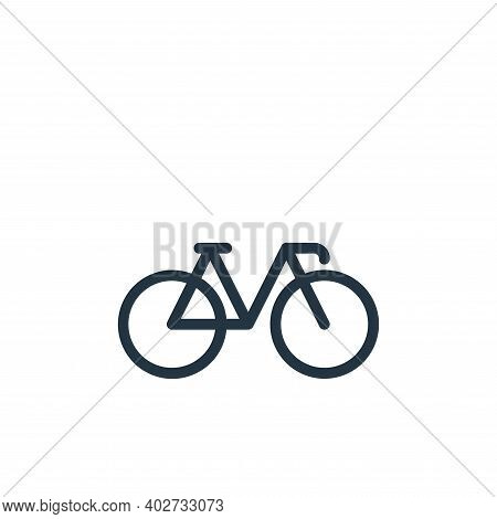 bicycle icon isolated on white background. bicycle icon thin line outline linear bicycle symbol for