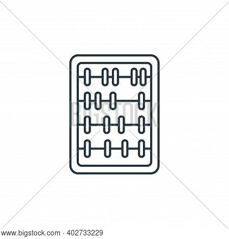 abacus toy icon isolated on white background. abacus toy icon thin line outline linear abacus toy sy