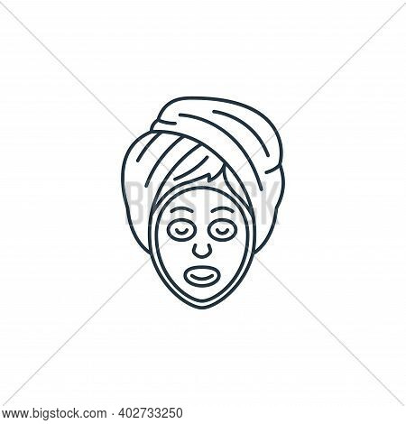 facial treatment icon isolated on white background. facial treatment icon thin line outline linear f