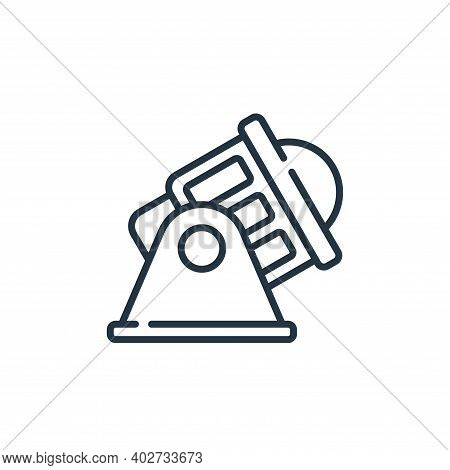 spotlight icon isolated on white background. spotlight icon thin line outline linear spotlight symbo