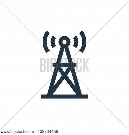 radio antenna icon isolated on white background. radio antenna icon thin line outline linear radio a