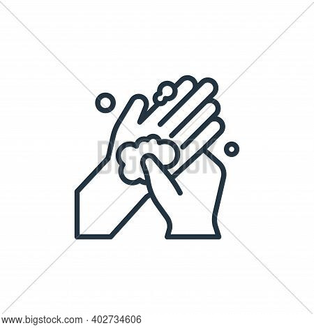 hand palm icon isolated on white background. hand palm icon thin line outline linear hand palm symbo