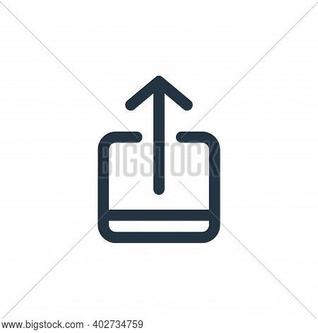 upload icon isolated on white background. upload icon thin line outline linear upload symbol for log