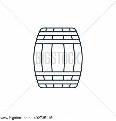 wine barrel icon isolated on white background. wine barrel icon thin line outline linear wine barrel