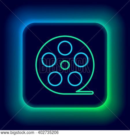 Glowing Neon Line Smartphone With Bluetooth Symbol Icon Isolated On Black Background. Colorful Outli