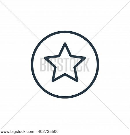 star icon isolated on white background. star icon thin line outline linear star symbol for logo, web
