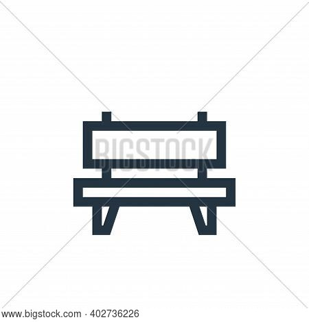 bench icon isolated on white background. bench icon thin line outline linear bench symbol for logo,