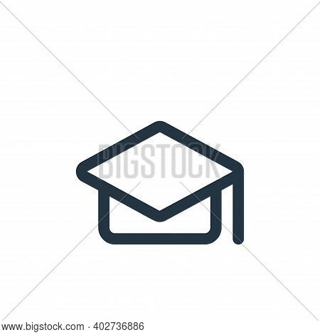 mortarboard icon isolated on white background. mortarboard icon thin line outline linear mortarboard