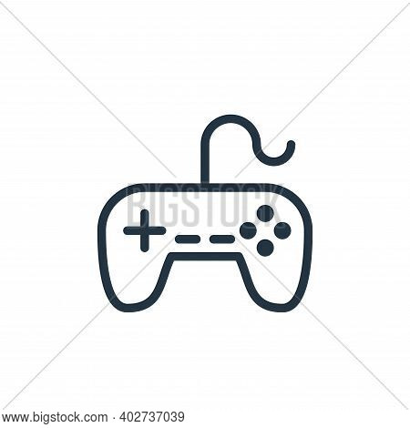 gaming console icon isolated on white background. gaming console icon thin line outline linear gamin